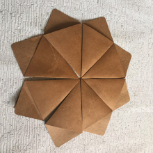 Printed decorative cardboard paper cones