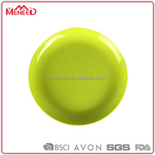 Bulk cheap melamine material solid green cold and hot food serving plate without printing