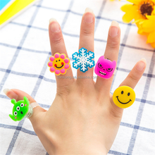 Fashion Kids' Wholesale princess plastic cartoon animal cute finger ring