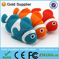 Hot Sale Free Sample fish shape usb flash drive for Promotional Gift