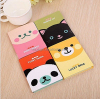 1Pc Cute Cartoon Portable Kraft Paper Notepad Memo Diary Notebook Exercise Book
