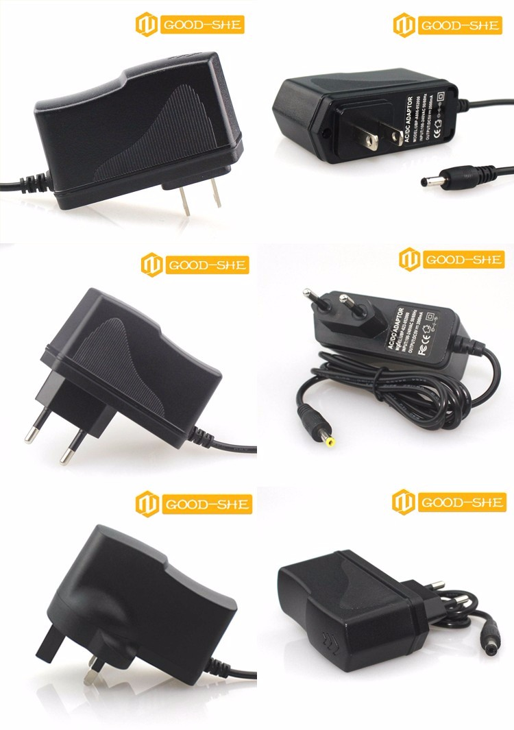 Reliable quality power supply 12V  9V 5V 6V charge adapter approved by CE FCC BIS BS for EU , UK US