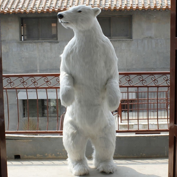 Standing Upright Polar Bear Large Decorative Simulation <strong>Animals</strong>
