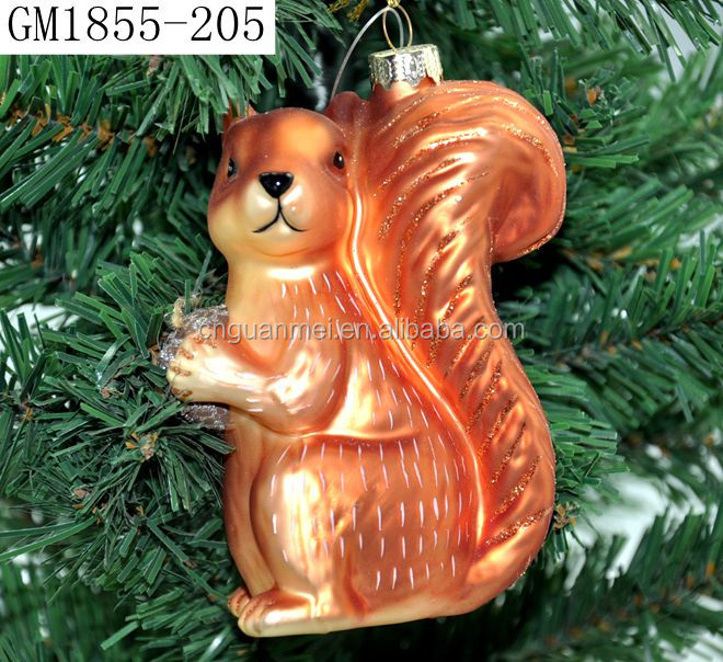 Factory direct sale glass squirrel glass animal