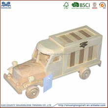 new product love design very nice small wooden model car toy for kids as gift