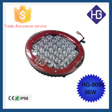 2015 Tow truck accessories 9inch 96W IP68 automobile car led driving lamp