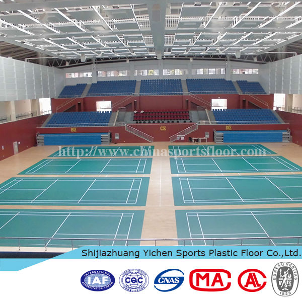 High quality indoor badminton synthetic floor covering