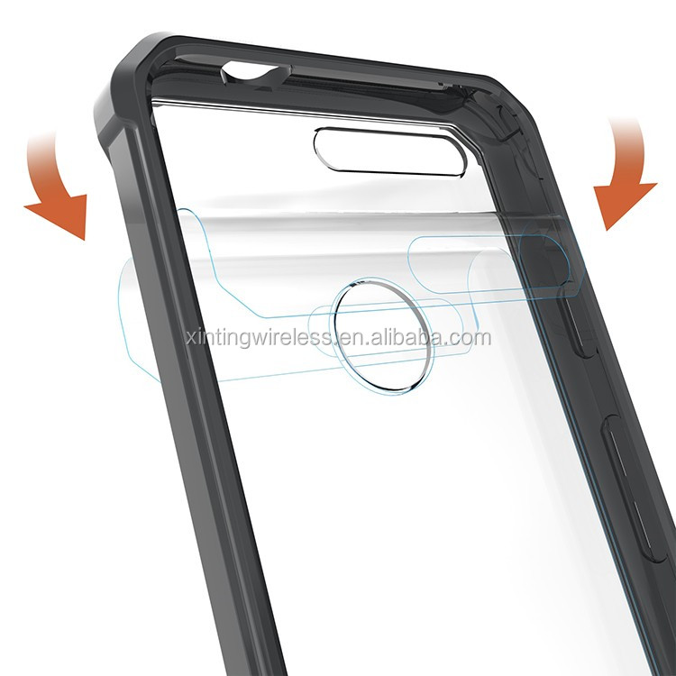 new hot sales anti-slip transparent phone case for google pixel phone