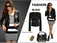 2014 ladies pu leather jackets wholesale for women fashion apparel J0806072