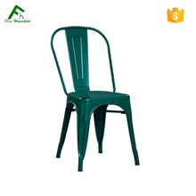 China Wholesale Replica Vintage Industrial Metal Stackable Chair For Restaurant