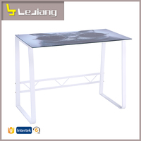 Free sample computer table for two people glass center table computer desk