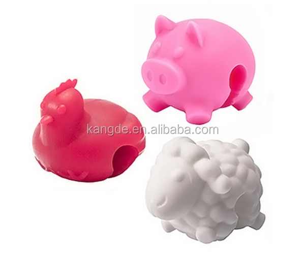 new kitchen silicone pot lid lift holders, cute animal silicone pan lid holder,clip on pot lid holder