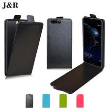 J&R Brand Leather Case For Huawei P10 Plus 5.5 Inch Flip Cover For Huawei p10 P 10 Plus Cases Open Up Down Protective Phone Bags