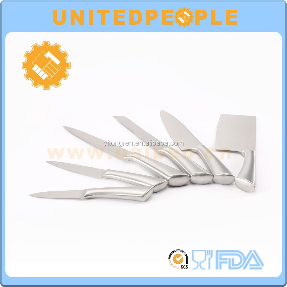 6 Piece Stainless Steel Knife Set Blade Cutlery Block Storage Holder Kitchen