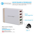 VOXLINK 5USB ports 50W usb wall charger with 5v 3a USB type c and quick charge 3.0 EU plug