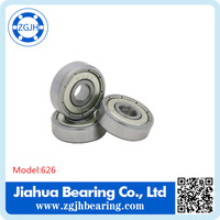 626ZZ RS open Miniature deep groove ball bearing