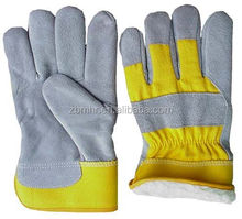 Brand MHR Safety equipment single palm glove cream leather glove
