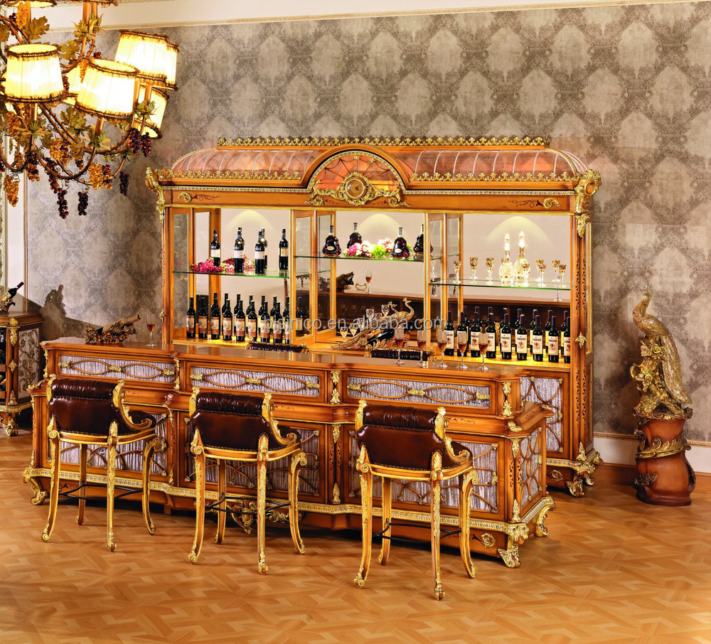 Luxury French Style Baroque Home Bar Furniture European