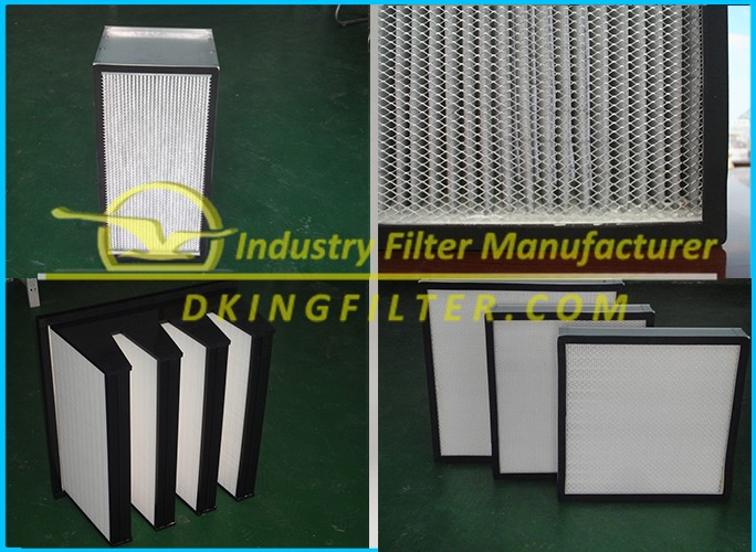 2017 Best price H11 H12 H13 H14 Mini-pleated HEPA Air Filter for HVAC made in China