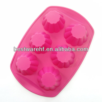 Jello Bread Desserts 6 holes silicone Arts and Crafts of Baking flex nonstick Muffins Cupcakes