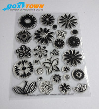 Custom Eco-Friendly Rubber Clear Stamp Transparent Stamp for DIY Scrapbooking Card Making Decoration Supplies