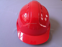 cheap CE en 397 red buckle safety helmet with chin strap ABS