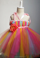 kids beautiful model rainbow color tutu dresses pretty flower girl lace tutu drss tutu grown