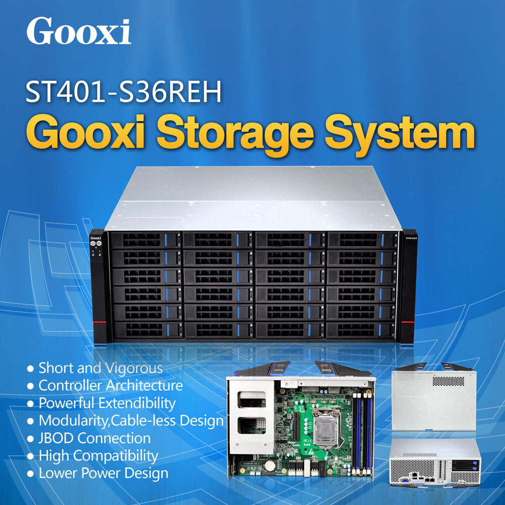 4U Server 36 bays Gooxi ST401-S36REH JBOD Hot-swap Xeon E3 V3 motherboard 36hdd 4U storage chassis case rack server