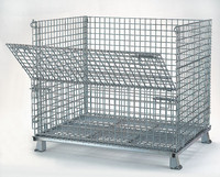industry foldable metal wire mesh storage cage with high quality