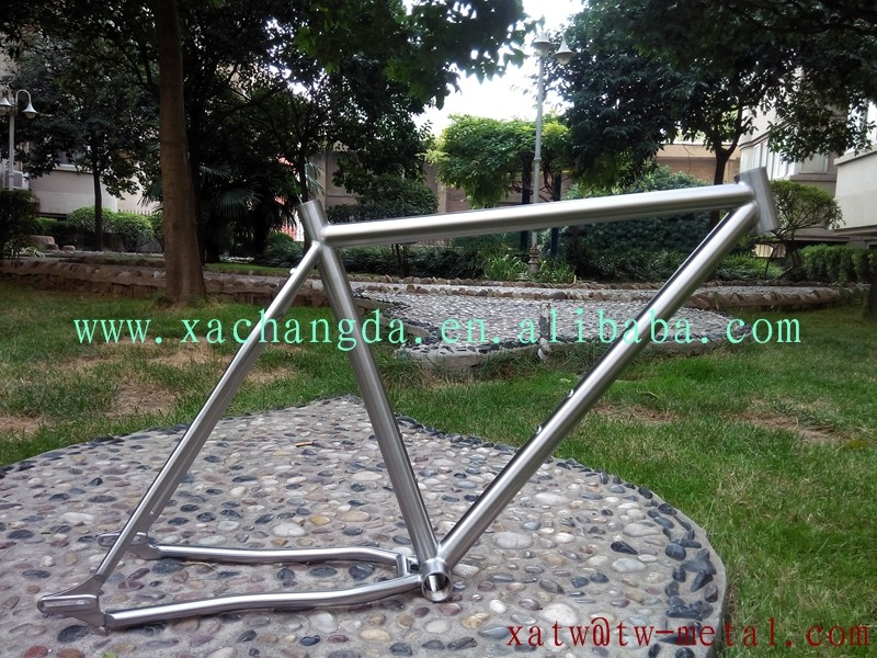 xacd made titanium fat bike frame 26er titanium fat bike frame handing brush finished titanium mtb bike frame