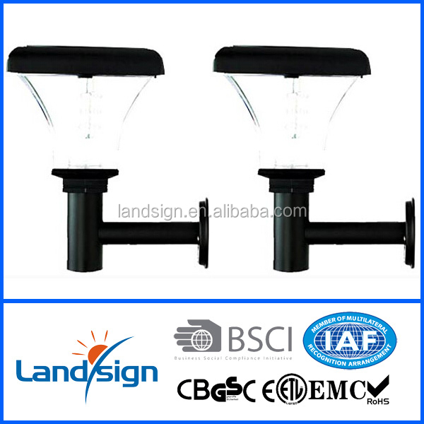 2015 new product solar led picture light XLTD-906 garden solar wall light with motion sensor