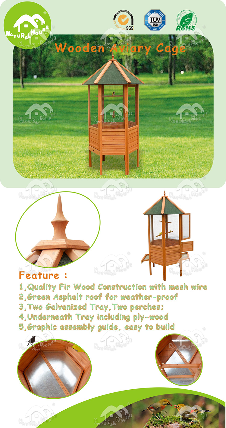 outdoor bird cages,wooden bird cage,luxury bird cage