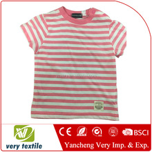 Baby Toddler 100% cotton T shirt with stripes