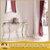 Marble Top Antique Console Table with Mirror
