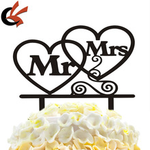 New Mr & Mrs With Love Acrylic Wedding Decor Wedding Cake Topper