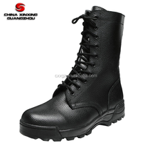9 inch embossed split leather top full leather Military combat boots