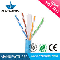 Guangzhou China manufactory utp/ftp/stp/sftp cat6 ethernet twisted pair cable bare copper 26awg internet cable 26awg networking