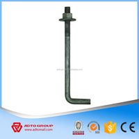 China Manufacturer black and galvanized L Type Foundation Bolt