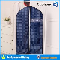 2016 New design clothes foldable garment bag, suit dust cover