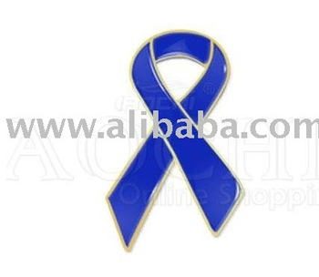 Colon cancer awareness Blue Ribbon Pins