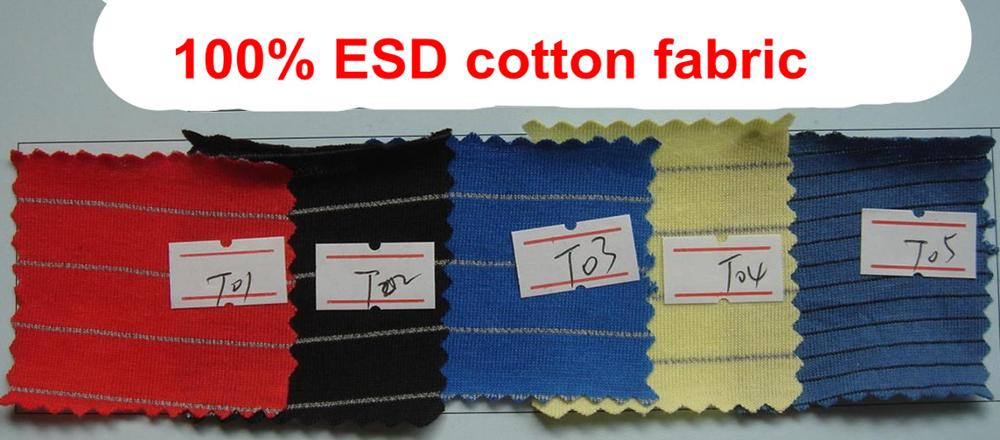 Brand name factory esd cloth material fabric