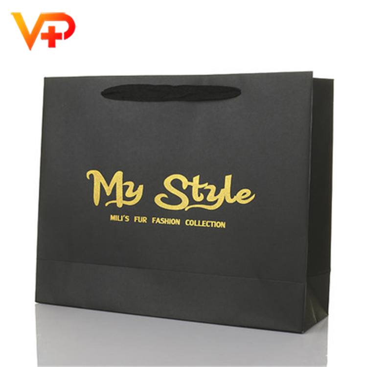 Famous brand paper packaging carry bag with handle