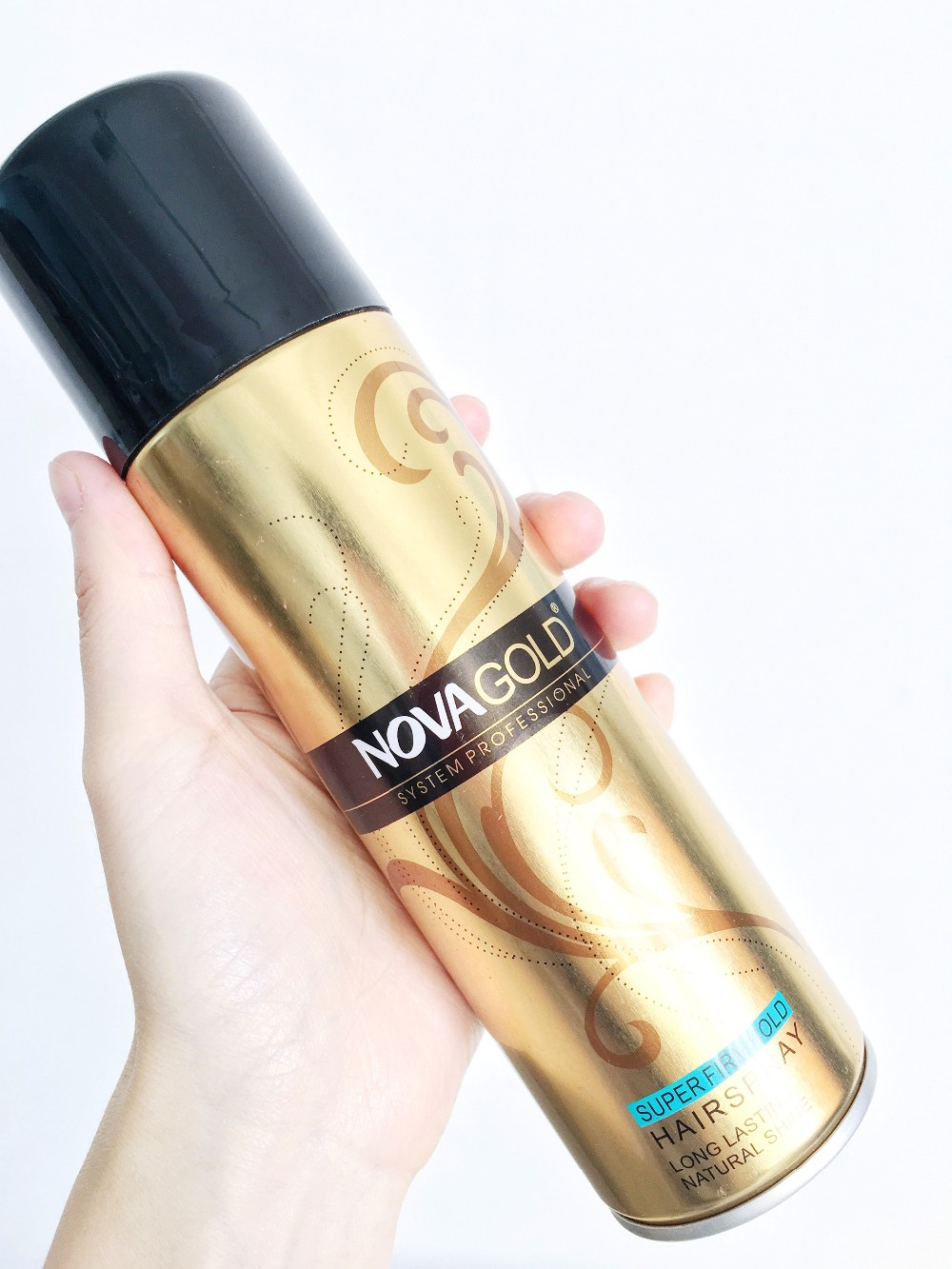 200ml top quality NOVA GOLD fiber lock mist hair spray