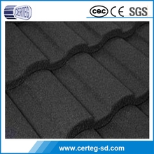 Light weight but strong factory stone coated metal roofing tile, zinc coated corrugated roofing