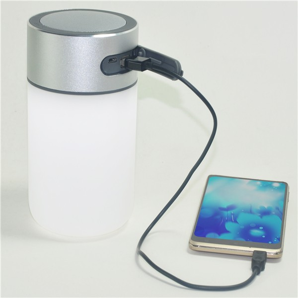 new arrival multifunctinal waterproof bluetooth speaker with powerbank and night light