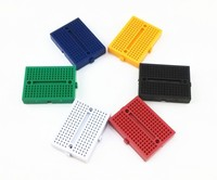 2015 Alibaba Express Hot Sell 170 points solderless breadboard with 6 colors for Arduino protoboard From China Factory