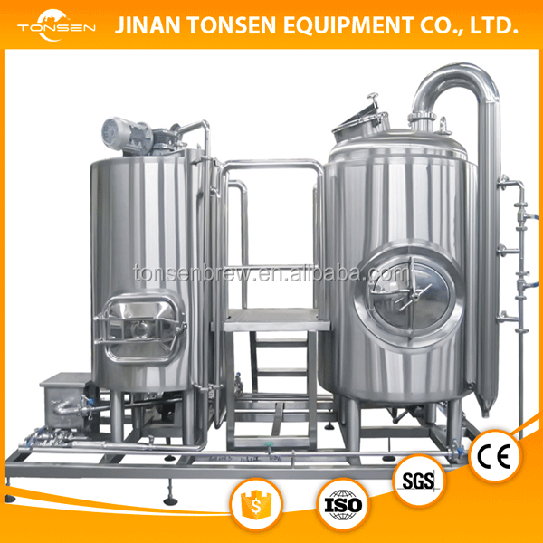 Shandong draft beer machine/beer brewing equipment/brewery system 1500L