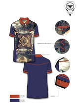 Men's fashion polo shirt in digital print Italy latest design