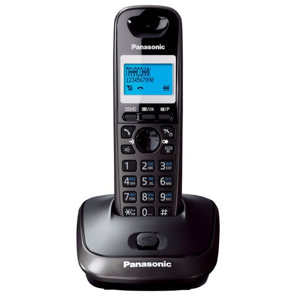 DECT telephone with phonebook for 50 names and numbers Panasonic KX-TG2511 Black Silver colors