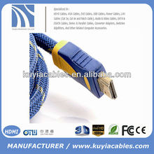 nylon net hdmi male to male cable with high speed 1080 P for 3D copper